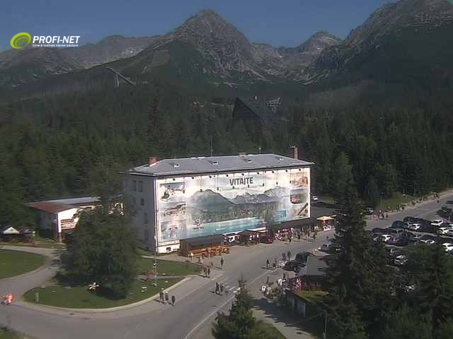 Webcam Skigebied Strbske Pleso Panorama - Hoge Tatra